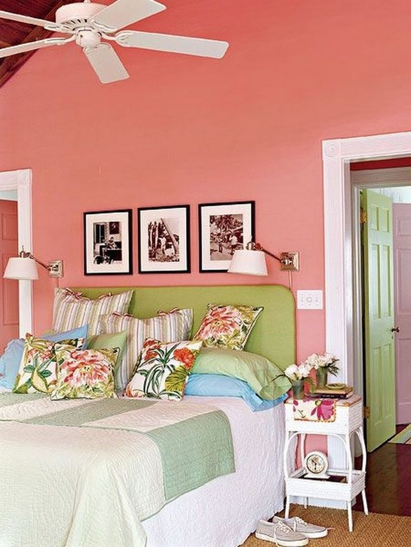 17 Good Pink Tropical Bedroom Ideas Fresh For Summer 01