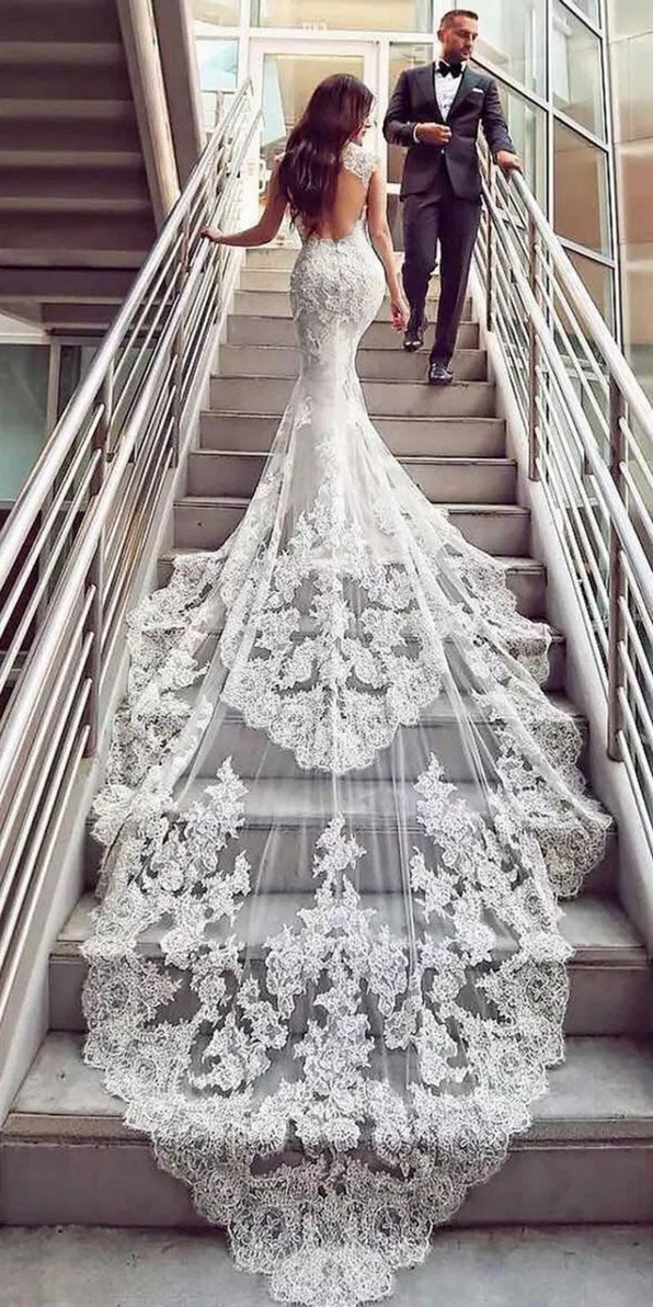 19 Unique Sleeve Wedding Dress Trends Ideas For 2019 30