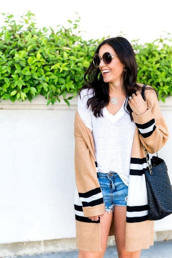 21 Cozy Summer Women Fashion Ideas With Cardigan You Need Try 14