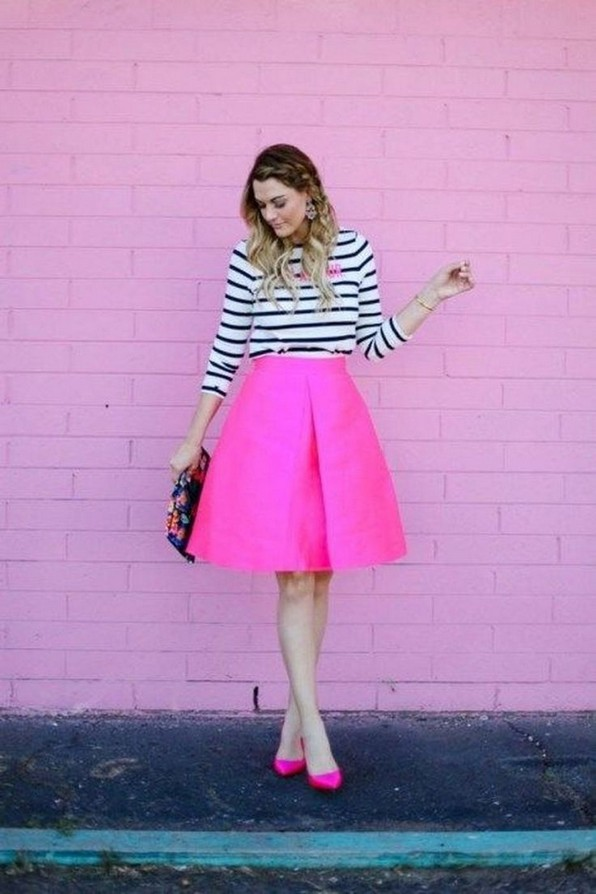 21 Cute Pink Skirts Outfit Ideas For Spring 01