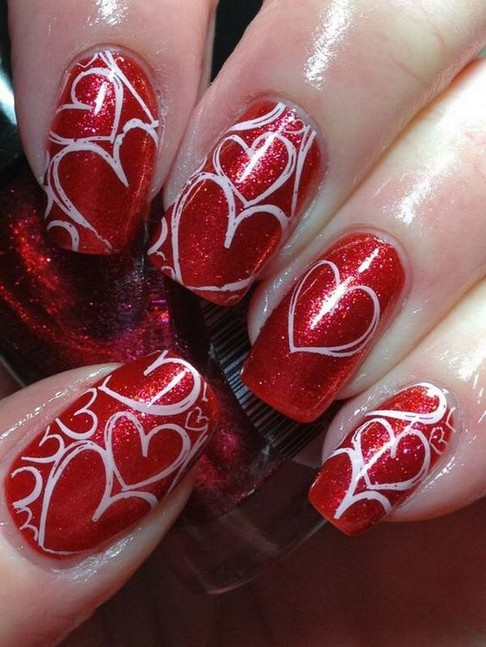 28 Free Valentine's Day Nail Ideas That We Are Not Tacky 2019 26